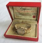 Longines Automatic Men's Wristwatch 19AS 17J 10K GF 1956 Original Box Old Vtg