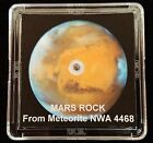 DELUXE EDITION AUTHENTICATED MARTIAN METEORITE 12mg Mars Rock Display+Easel h