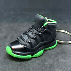 AIR JORDAN XI 11 RETRO OG NEON BLACK GREEN KEYCHAIN 3D SNEAKER SHOES 16 FIGURE