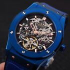 Mens Watch Age Girl Automatic Mechanical With Hublot Bend Grey Luxury Men's