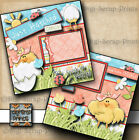 BABY GIRL JUST HATCHED 2 premade scrapbook pages paper LAYOUT BY DIGISCRAP