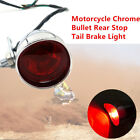 Motorcycle ATV Bikes Chrome Bullet Rear Stop Tail Brake Light Cafe Racer Chopper
