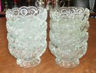 Set of 8 Vintage LE Smith Moon  Stars Clear Glass Dessert Fruit Sherbet Cups