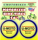 TIRES FOR YOUR 48cc 49cc 50cc 66cc 80cc 2 STROKE MOTORIZED BIKE KIT AND BICYCLE