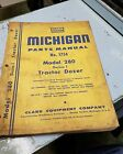 MICHIGAN PARTS MANUAL N0.1754 MODEL 280 SERIES1 TRACTOR DOZER CLARK EQUIPMENT