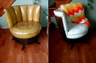 Whiskey Barrel Chairs Pair Swivel Rocker Base Original VTG Brothers Chair 1970s