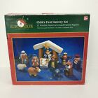 Kurt S Adler Hand Carved Childs First Nativity Set Of 12 Christmas Decorations