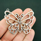 Butterfly Connector Charm Antique Silver Tone Large Size Open Design SC7521