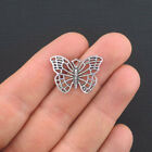 8 Butterfly Charms Antique Silver Tone SC941