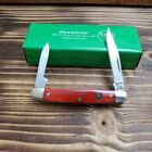 Hen  Rooster Red Smooth Bone 2 Blade Pen Knife 302 RSB