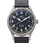 IWC Pilot watch mark 18 Black letter board Stainless Steel / Leather autom...