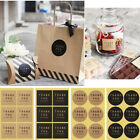 60Pcs Set Square Circle Thank you Packaging Label Sticker Baking Gift Stickers