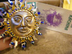 LIZTECH Native American Sun KACHINA PIN Brooch 2006 Art Deco Silver Gold Tn NWT