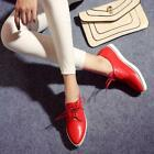 Chic Womens Pointed Toe Lace Up Slip On Casual Loafers Sneakers preppy Shoes new