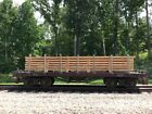 Bachmann Custom Painted  Weathered Flat Car with Lumber Load Metal Wheels