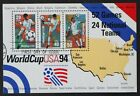 US Used 2837 29c 1994 World Cup Sheet of 3 Lovely CDS Cancel
