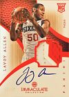 2012-13 Immaculate Collection RC Patch Auto Lavoy Allen Chinese Red 25 Pacers