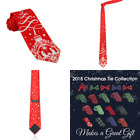 John William Mens Christmas Tree Ornament  Nativity Necktie Holiday RED Religio