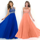 Women's Long Chiffon Dress Formal Evening Party Bridesmaid Ball Gowns Dresses US