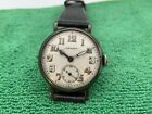 Rare Longines Sterling Silver Trench Watch
