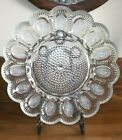 Vtg Indiana Glass Clear Hobnail Deviled Egg Plate Dish Platter 11