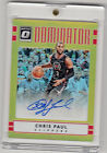 2016-17 Panini Optic Dominator Gold Autograph #24 Chris Paul. Clippers. 7 10