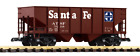 Piko America Santa Fe Rib Side Hopper Car 38876 G Scale Trains