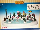 Lemax Village Animated Holiday Hockey in the Park Collection Item Sights Sounds