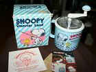 Vintage Collectible Snoopy Donvier Land Blue Ice Cream Maker W Box Kitchen S43