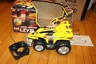Vintage RC Toy The Leveler Radio Control Stunt Action Car With Box Yellow