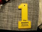1#E    Vintage Russo's Sunoco Plastic Ice Scrapper Windshield Advertising Piece