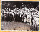 1928 Herbert Hoover & midwest farmers at Brucemore, Cedar Rapids IA  Press Photo