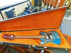Vintage 1960's Teisco ET-210N Electric Guitar! Turquoise Blue Finish! WOW!