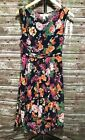 M | Aryeh Blue Floral Lined Chiffon High Low Dress Side Zip