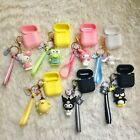 Cute Hello Kitty Melody Keychain Strap Silicone Case for Airpods Pro 3 2 1 Case