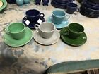 Fiesta Ware Vintage Tea Cups and Saucers