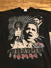 Obama Barack CHANGE YES WE CAN Graphic Black Bedazzled size 3XL Shirt