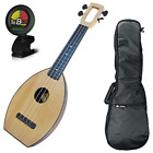 Magic Fluke Co Flea M30 Ukulele Natural w Gig Bag and Tuner