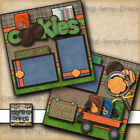 GIRL SCOUT COOKIES 2 premade SCRAPBOOK pages paper piecing DIGISCRAP A0195