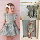 US Toddler Kids Baby Girl Clothes Sister Matching Floral Romper Dress Outfit Set