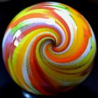 STEVE DAVIS HANDMADE GLASS MARBLE 1486 CITRUS CHILI WIG WAG GREEN  GOLD LUTZ+