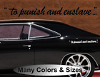 2X To Punish and Enslave Vinyl Decal TRANSFORMERS DECEPTICONS DOOR SIDE