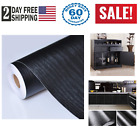 Black Wood Grain Contact Paper Self Adhesive Shelf Liner Door Countertop Cabi
