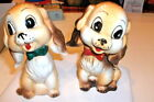 VINTAGE Salt  Pepper Shakers Commodore Japan Spaniel Puppy Dog squeakers cute