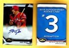 Jean Segura Named Fifth 2012 Finest Baseball Autograph Rookie Redemption 12