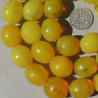old antique czech bohemian yellow oval goose egg african trade beads 102