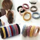 5X Girl Elastic Rubber Hair Ties Band Rope Ponytail Holder Resilience Seamless W