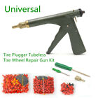 Universal Motorcycle Tire Plugger Tubeless Tyre Wheel Repair Gun Kit+Plug Rubber