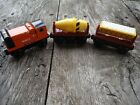 Thomas Train Wooden Railway Rusty, Cement Mixer, Dumper Car with Magnetic Cargo