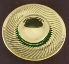 Collectible Classic Light Green Ribbed Gold Trim 8.25
